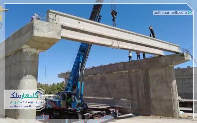 عملیات احداث پل ورودی دوم شهر گلبهار